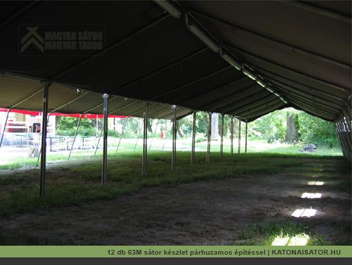 12 db 63M katonai sátor készlet párhuzamos építéssel | katonaisator.hu
