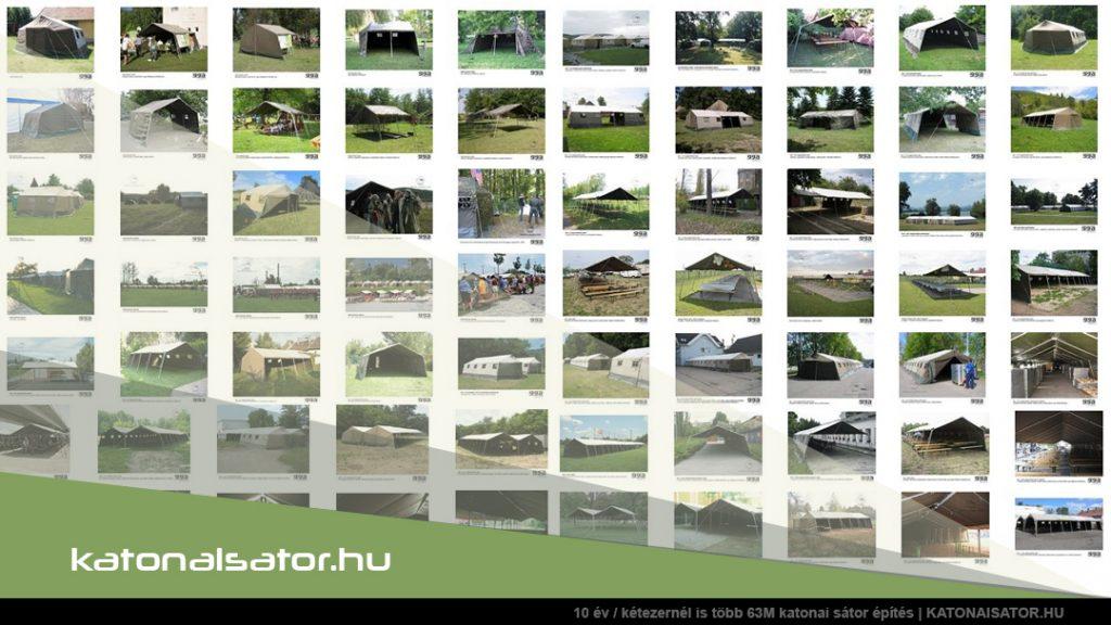 10 év / kétezernél is több 63M katonai sátor építés | KATONAISATOR.HU