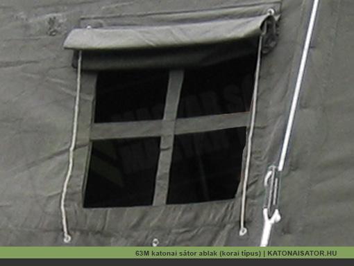 63M katonai sátor ablak (korai típus) | KATONAISATOR.HU