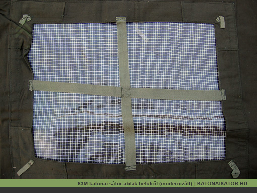 63M katonai sátor ablak belülről (modernizált) | KATONAISATOR.HU