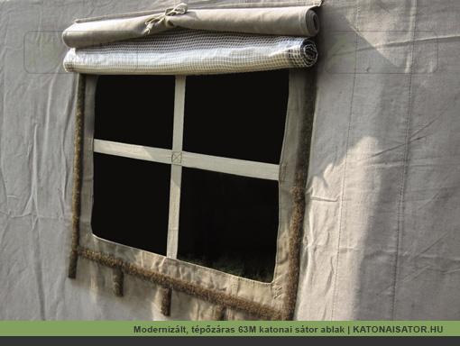 Modernizált, tépőzáras 63M katonai sátor ablak | KATONAISATOR.HU