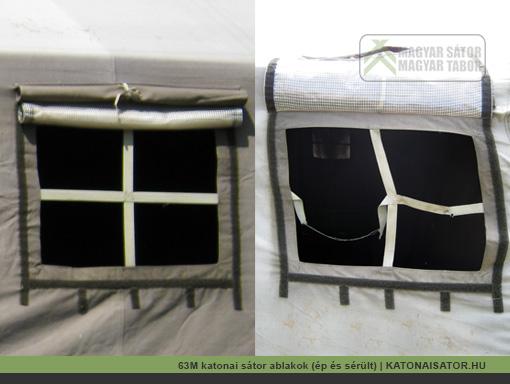 63M katonai sátor ablakok (ép és sérült) | KATONAISATOR.HU