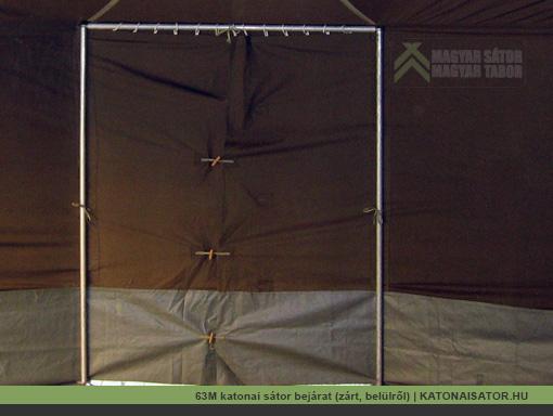 63M katonai sátor bejárat (zárt, belülről) | KATONAISATOR.HU