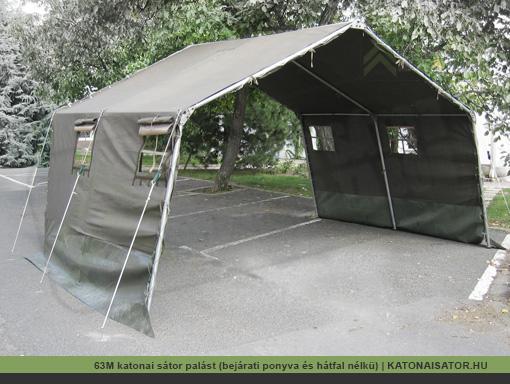 63M katonai sátor palást (bejárati ponyva és hátfal nélkü) | KATONAISATOR.HU