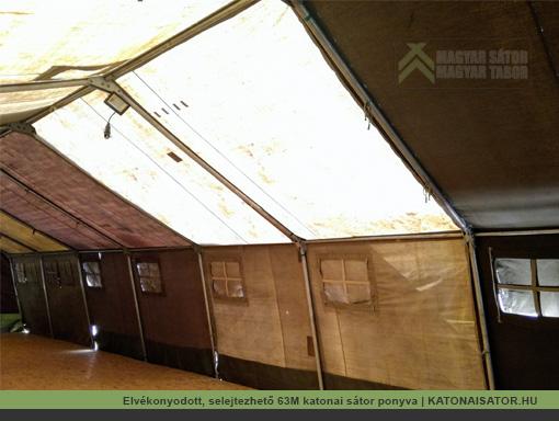 Elvékonyodott, selejtezhető 63M katonai sátor ponyva | KATONAISATOR.HU