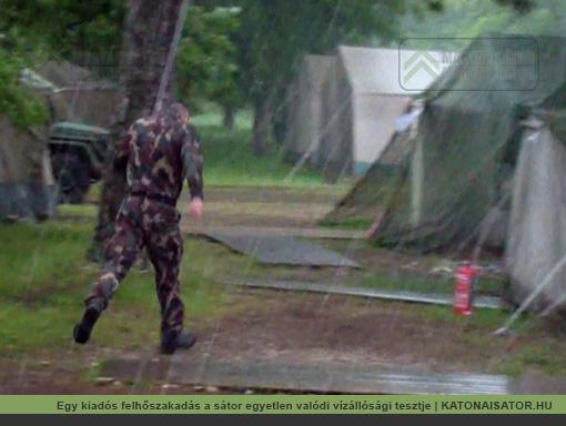 Egy kiadós felhőszakadás a sátor egyetlen valódi vízállósági tesztje | KATONAISATOR.HU