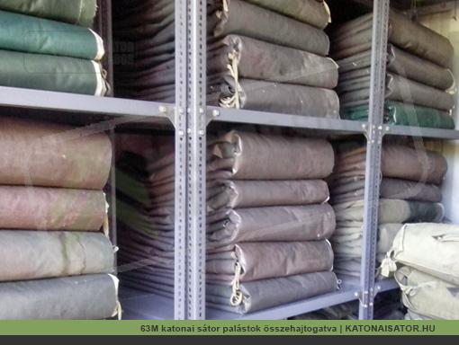 63M katonai sátor palástok összehajtogatva | KATONAISATOR.HU